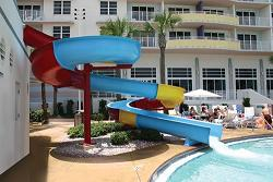Ocean walk Water Slide in Heated Pool