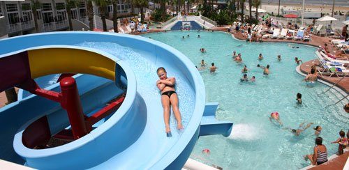 Ocean Walk Water Slide Pool - No Need to Ever Leave